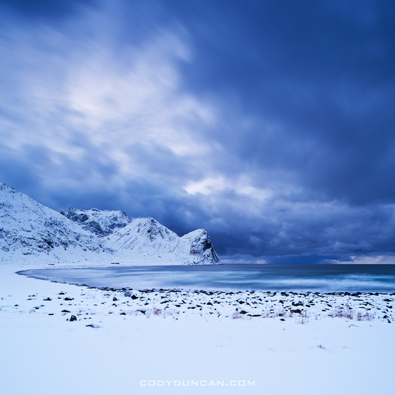 Unstad Beach Lofoten Islands