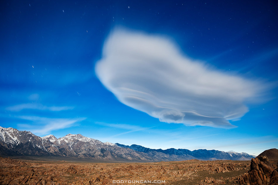 lenticular cloud sierra nevada mountains california