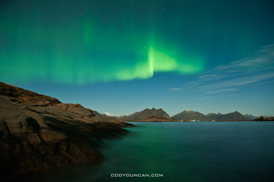 Lofoten islands, Norway aurora borealis