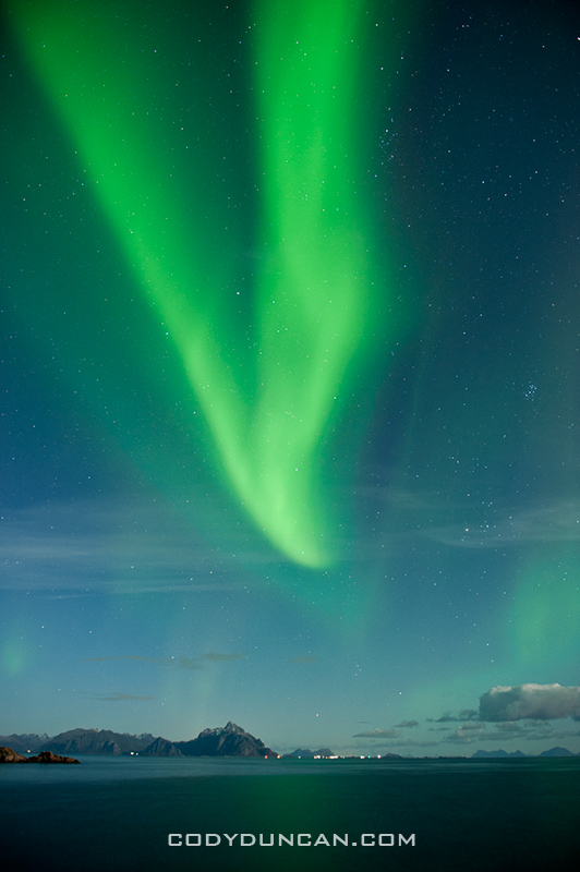 Northern lights lofoten islands october 2011