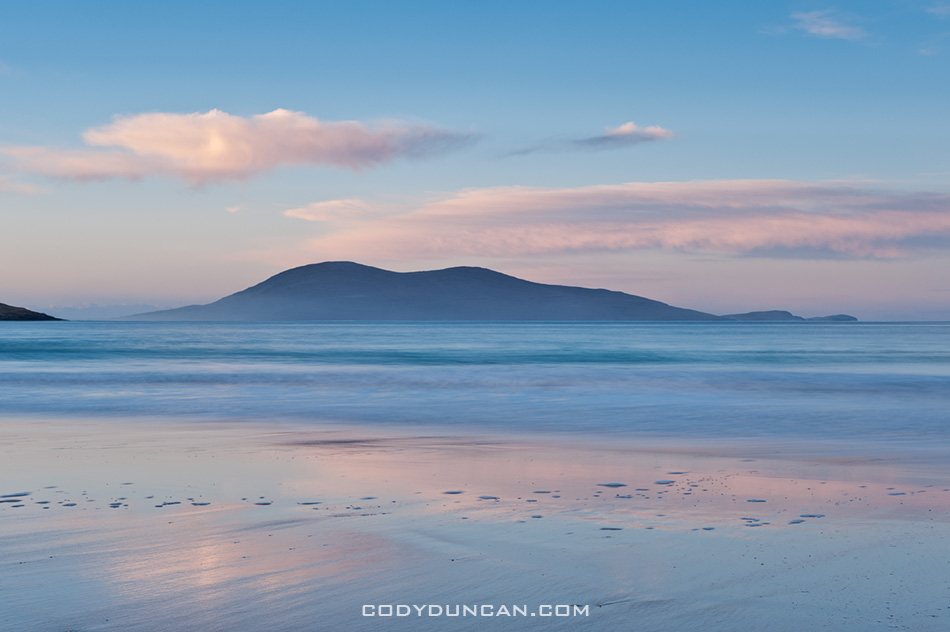 Morning light on Luskentyre beach, Isle of Harris, Western Isles, Scotland