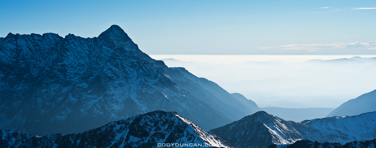 Tatra mountain panoramic photo