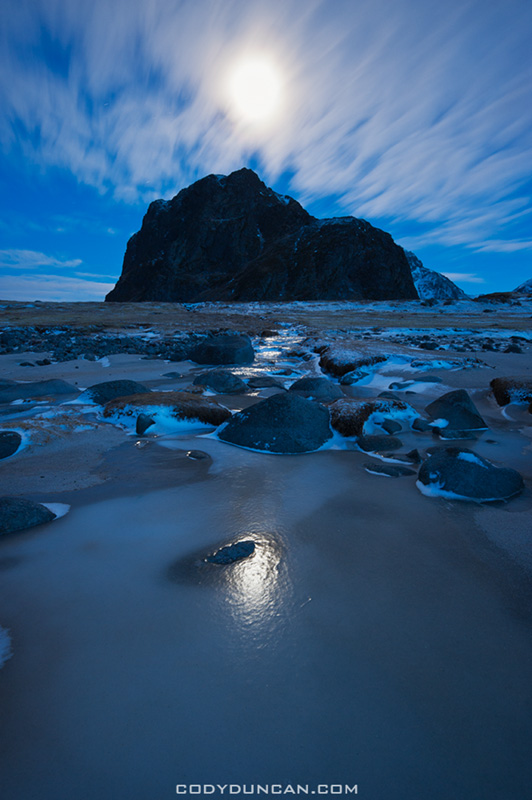 Moonlight over Eggum Lofoten Islands Norway