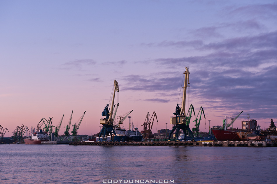 Shipping port at Klaipeda, Lithuania