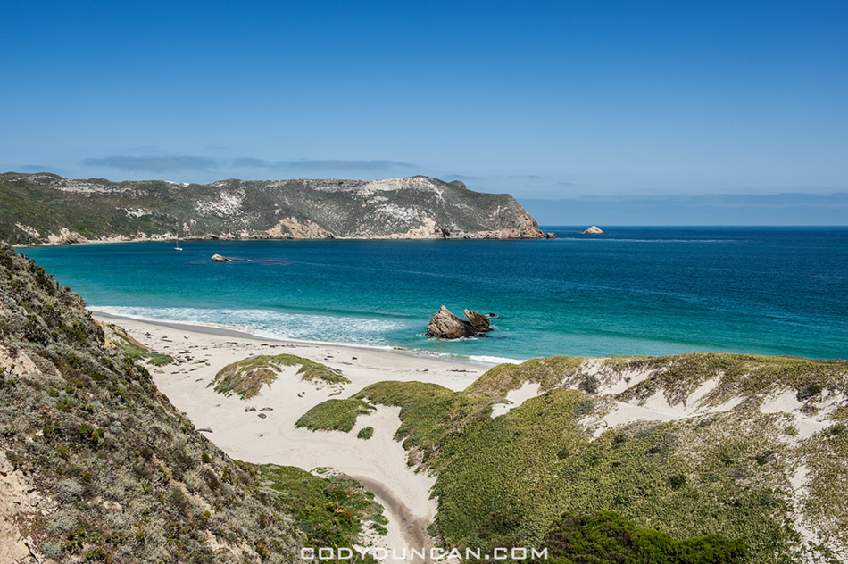 photos of sailing and hiking at san miguel island