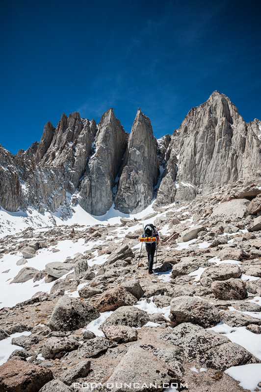 Mount Whitney mountaineers route hiking