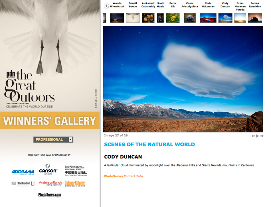 2012 PDN great outdoors photo contest