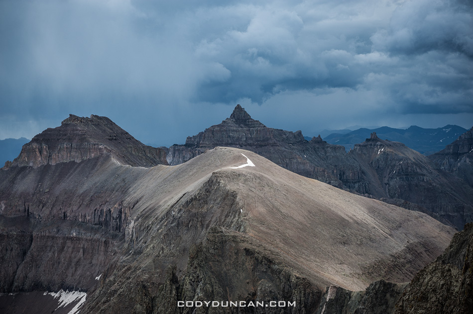 Colorado mountain storm San Juans