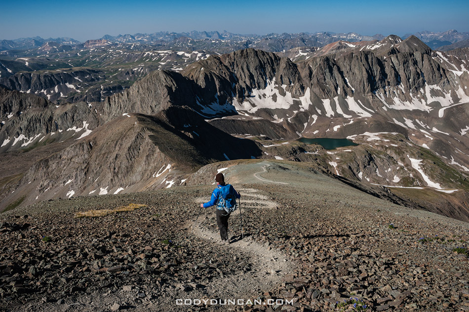 Hiking Handies peak from American Basin, Colorado