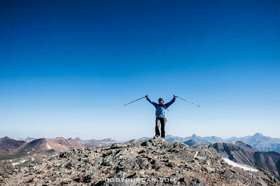 Summit of Handies Peak Colorado 14er