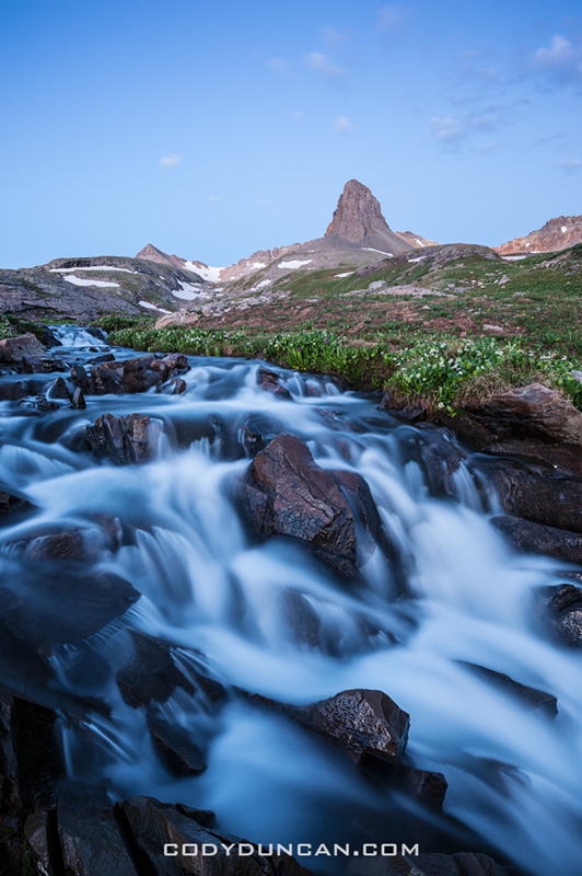 Flowing river, Ice Lake Basin, Colorado