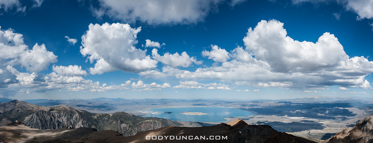 View over Mono lake from Mt. Dana, Yosemite, California
