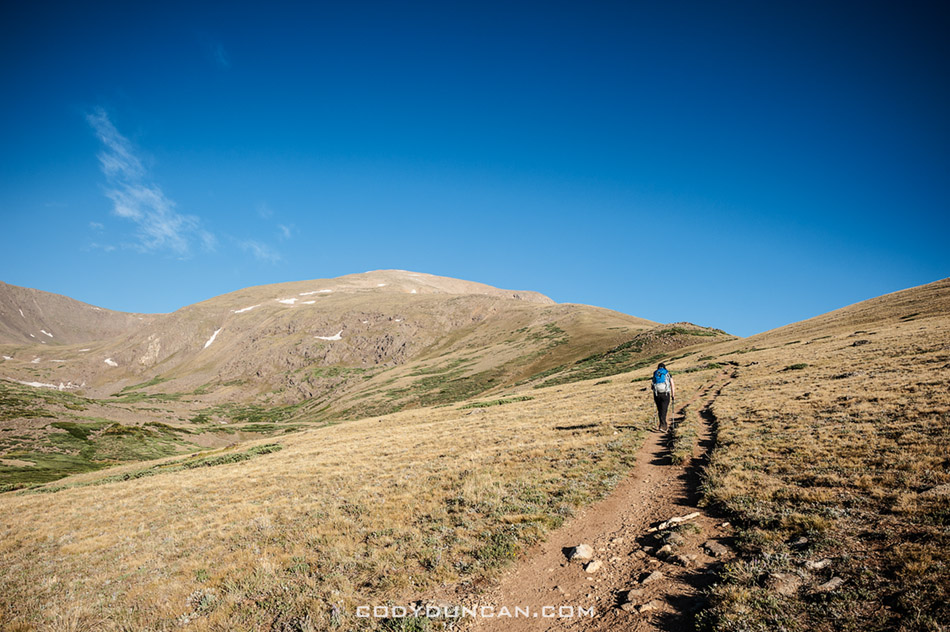 Hiking mount elbert south ridge trail, Colorado 14ers