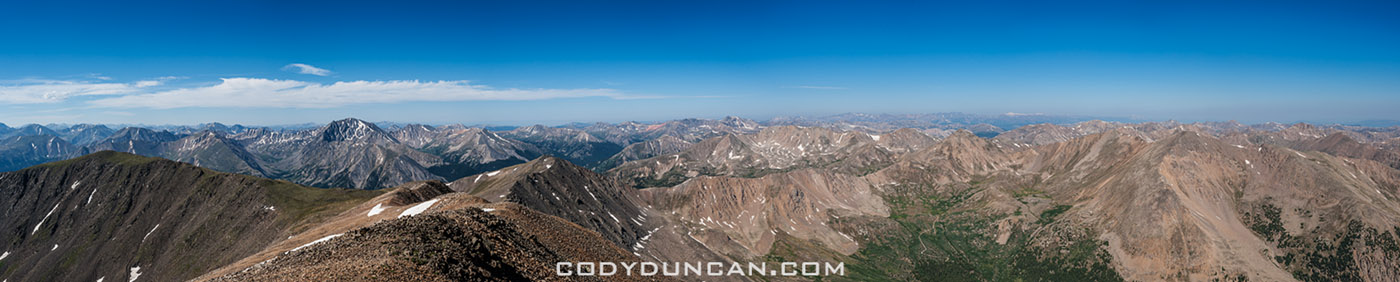 Mt elbert panoramic photo