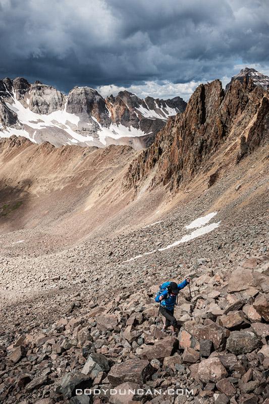 Climbing mt sneffels colorado 14er