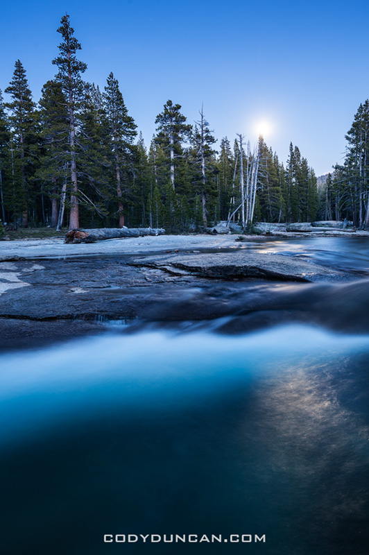 Tuolumne river night yosemite
