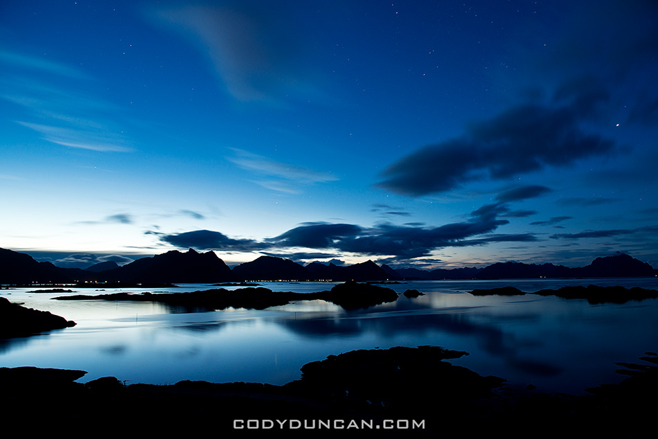 Summer night Stamsund, Lofoten Islands, Norway