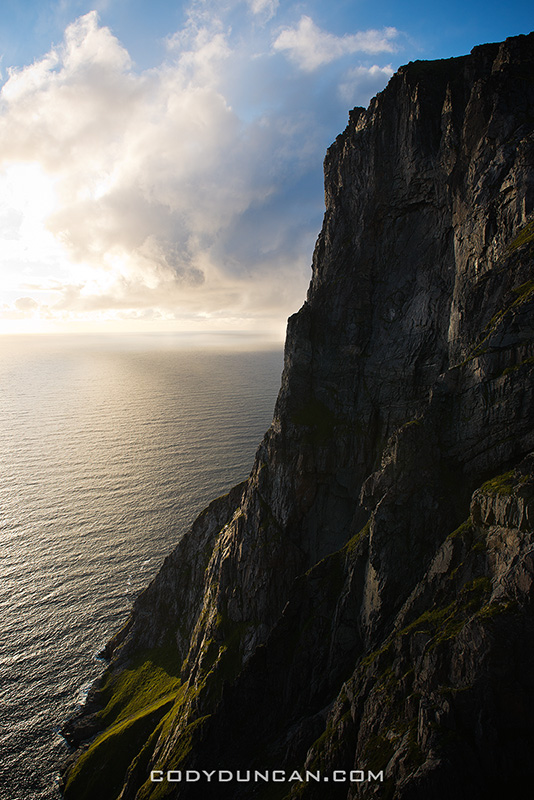 Cliffs of Ryten Lofoten islands Norway