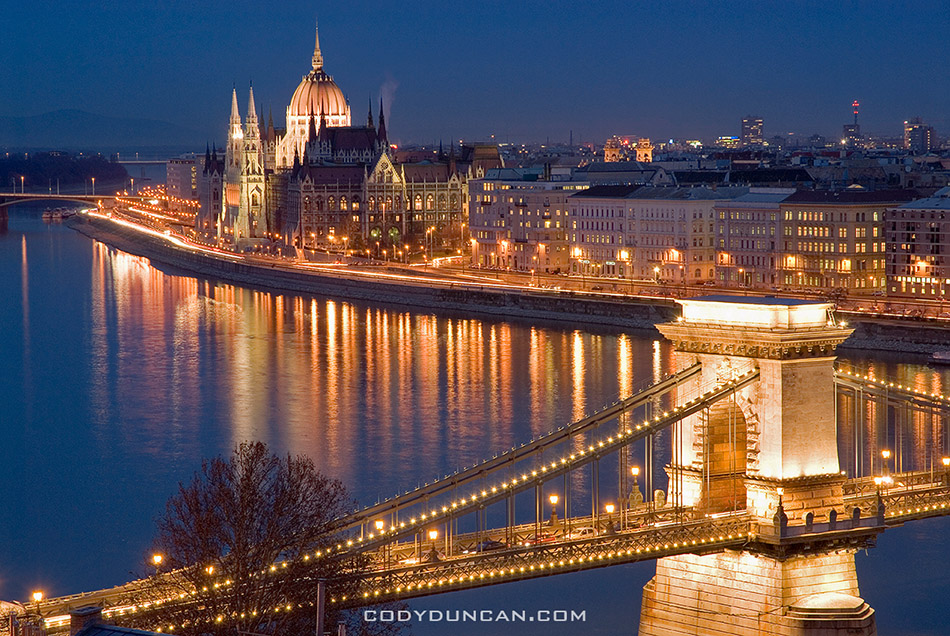 Overlooking the Danube river, Budapest, Hungary