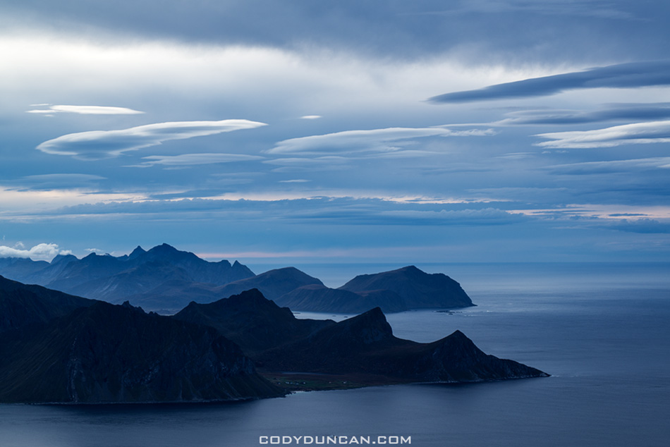 Himmeltinden lofoten islands norway