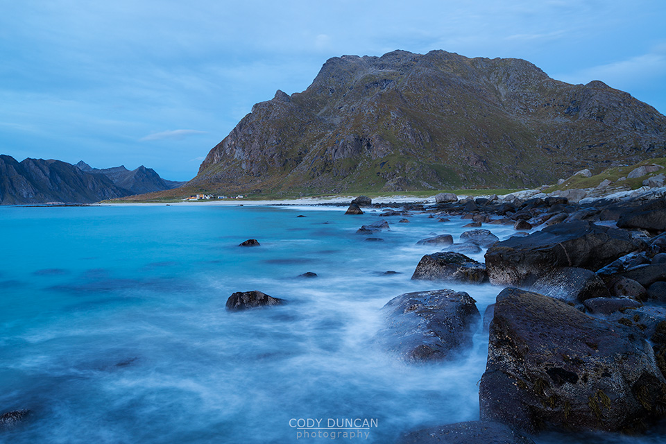 Himmeltindan and Utakleiv Lofoten Islands Norway
