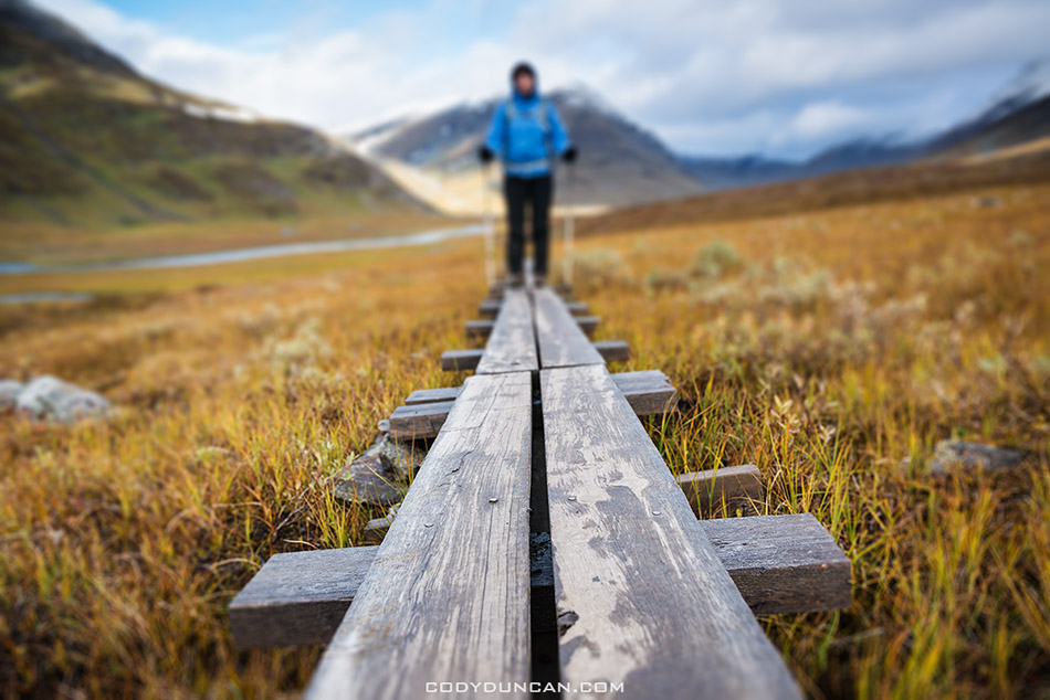 Kungsleden trail hiking sweden