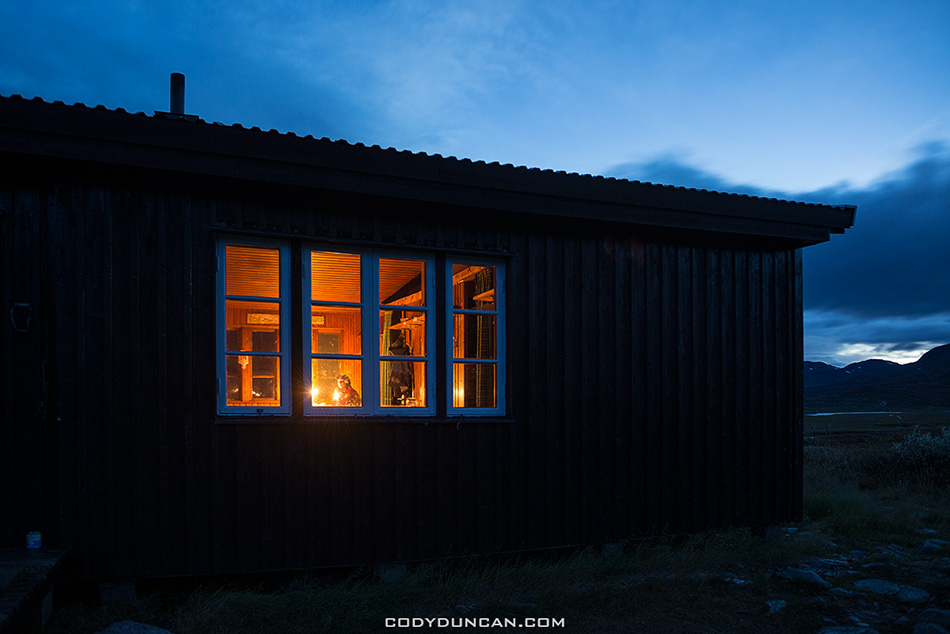 Singi hut Kungsleden trail Sweden