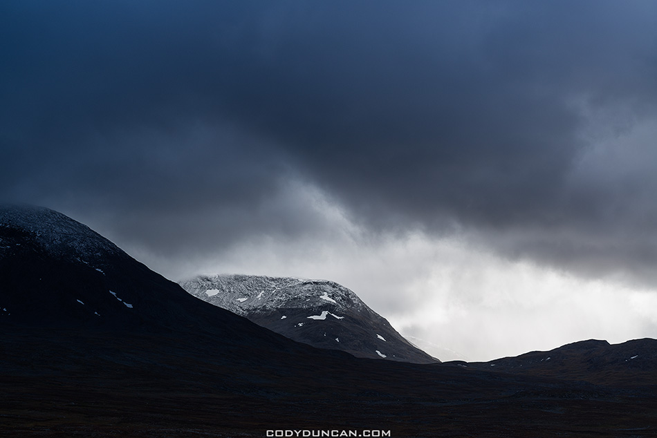 Alesjaure mountain landscape kunglseden trail Sweden