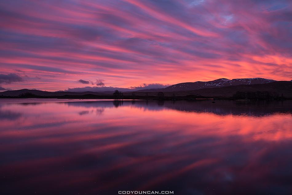 Sunrise at Loch Ba, Rannoch Moor, Scotland