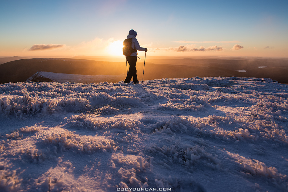 Brecon Beacons Pen Y Fan winter hiking