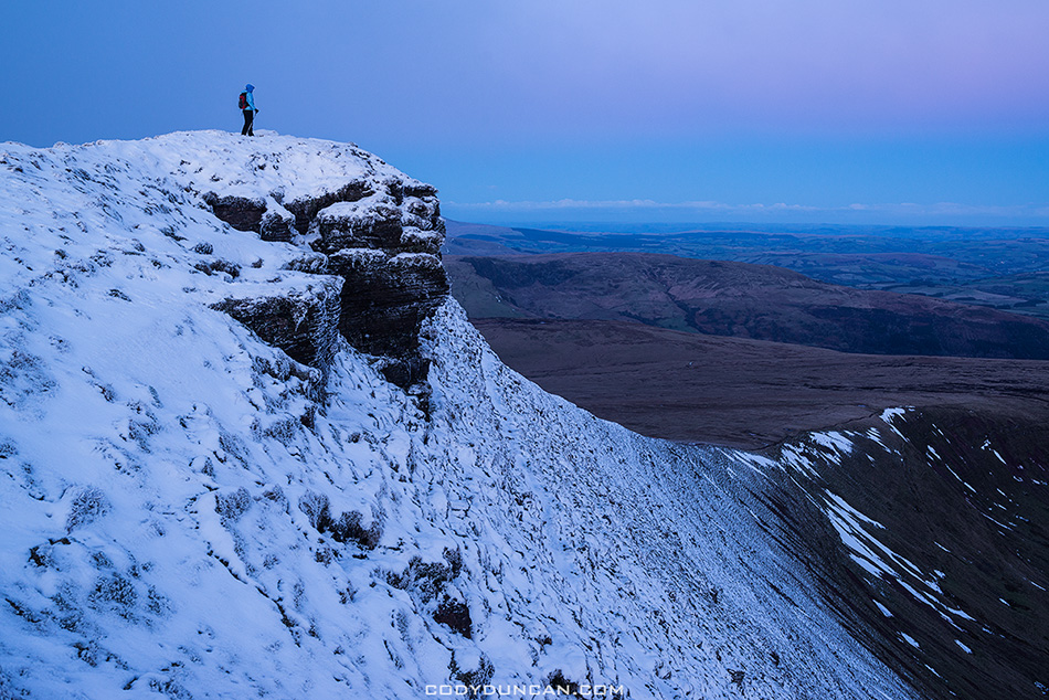 Brecon Beacons Corn Du winter hiking