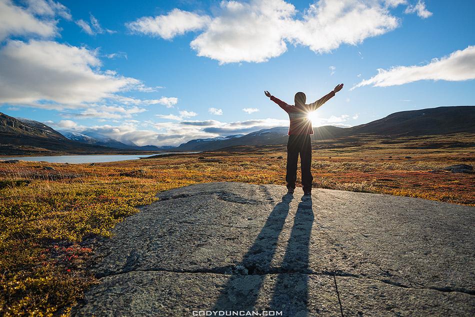 Hiking kungsleden trail Sweden