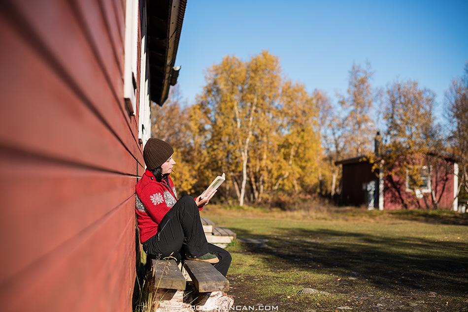 Abiskojaure hut Kungsleden trail Sweden