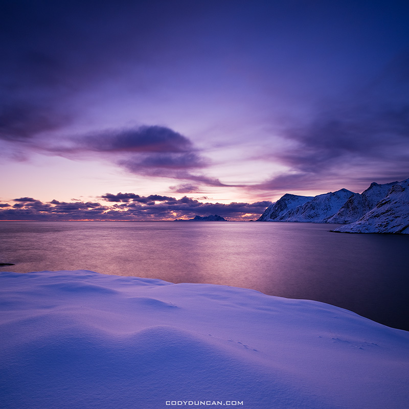 Lofoten Islands winter sunset