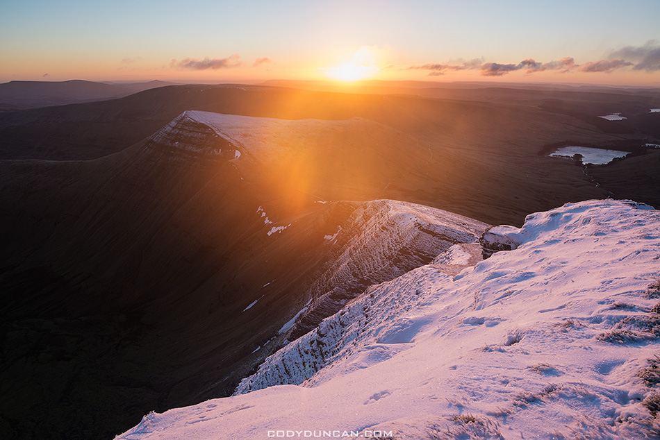 Pen Y Fan Brecon Beacons winter sunrise