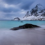 Haukland beach winter, Lofoten Islands