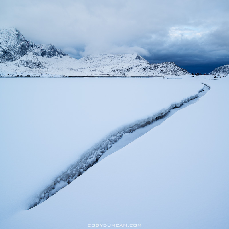 Lofoten Islands winter Landscape