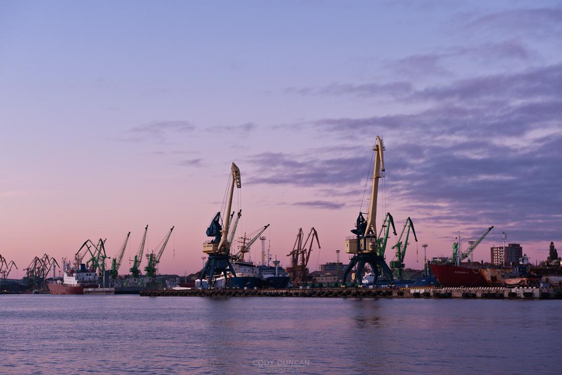 Shipping port at Klaipeda, Lithuania