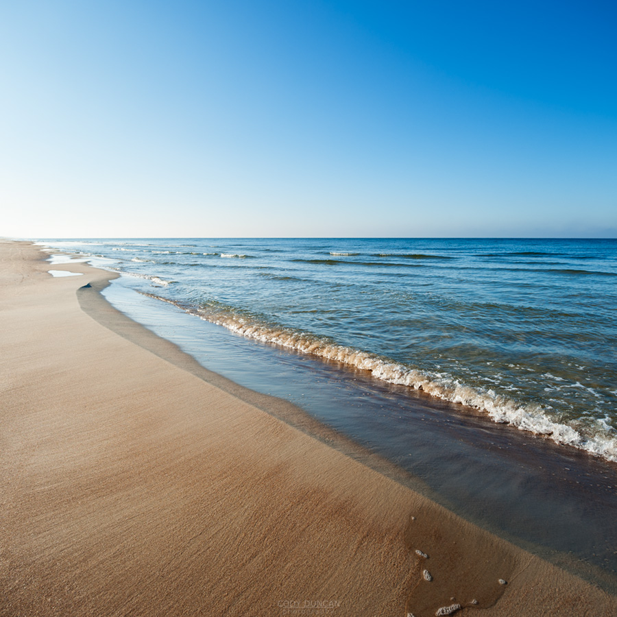 Curonian Spit beach and Baltic sea, Lithuania