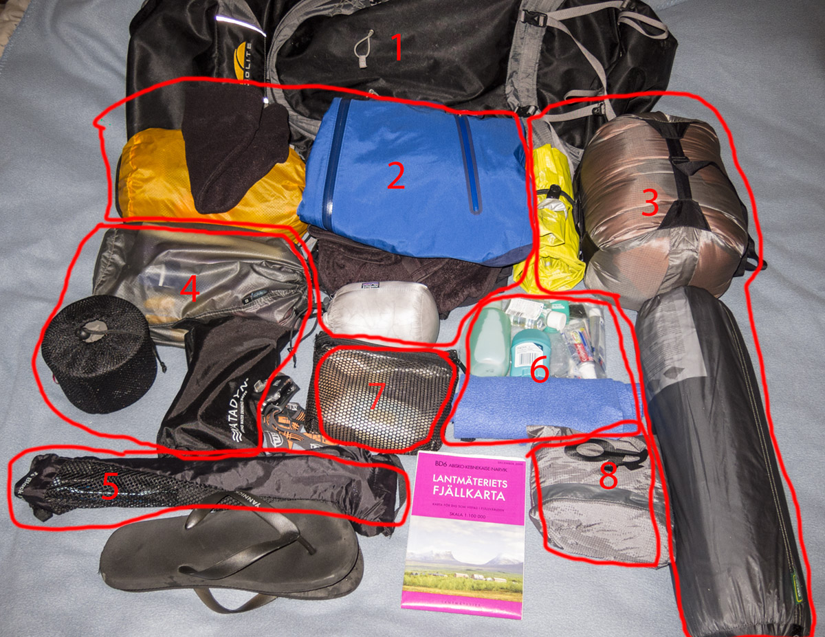 HIking and backpacking gear 2012