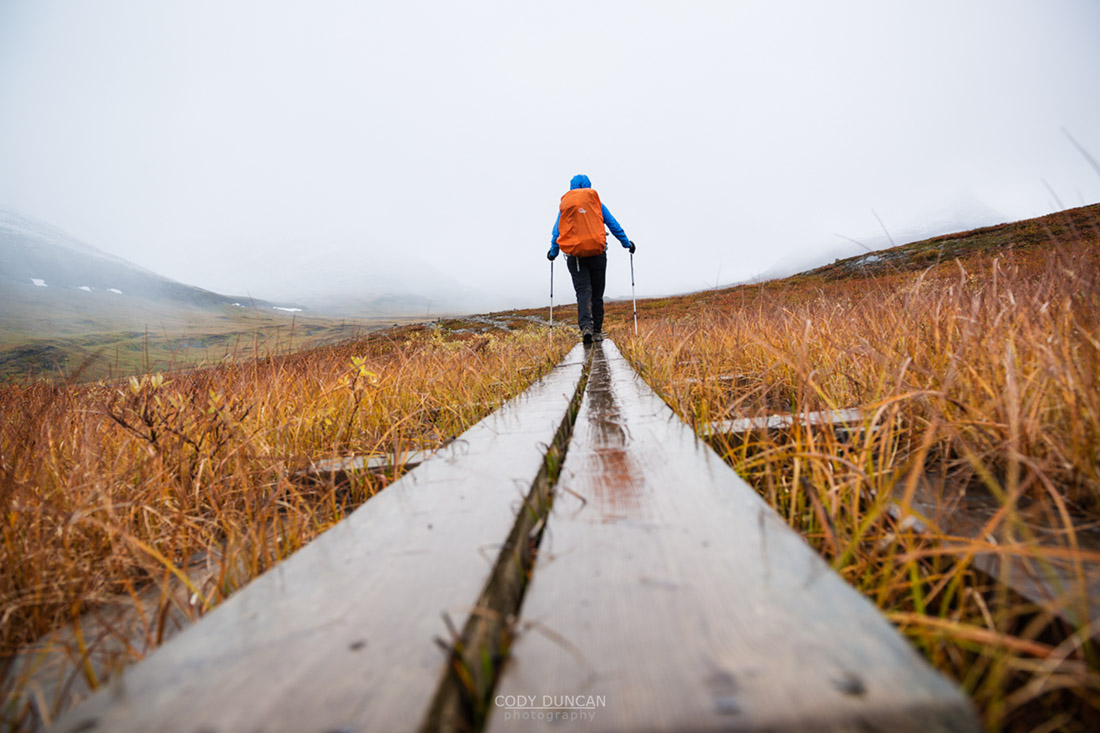 Tjäktjavagge on Kungsleden trail, Lappland, Sweden