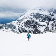 Spring Hiking on Schneibstein, Berchtesgaden national park, Germany
