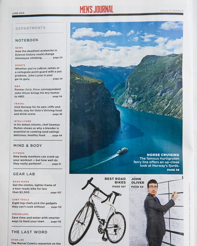 Hurtigruten Norway Mens Journal Magazine