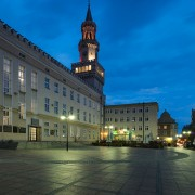 Town hall and Rynek market square, Opole, Silesia, Poland