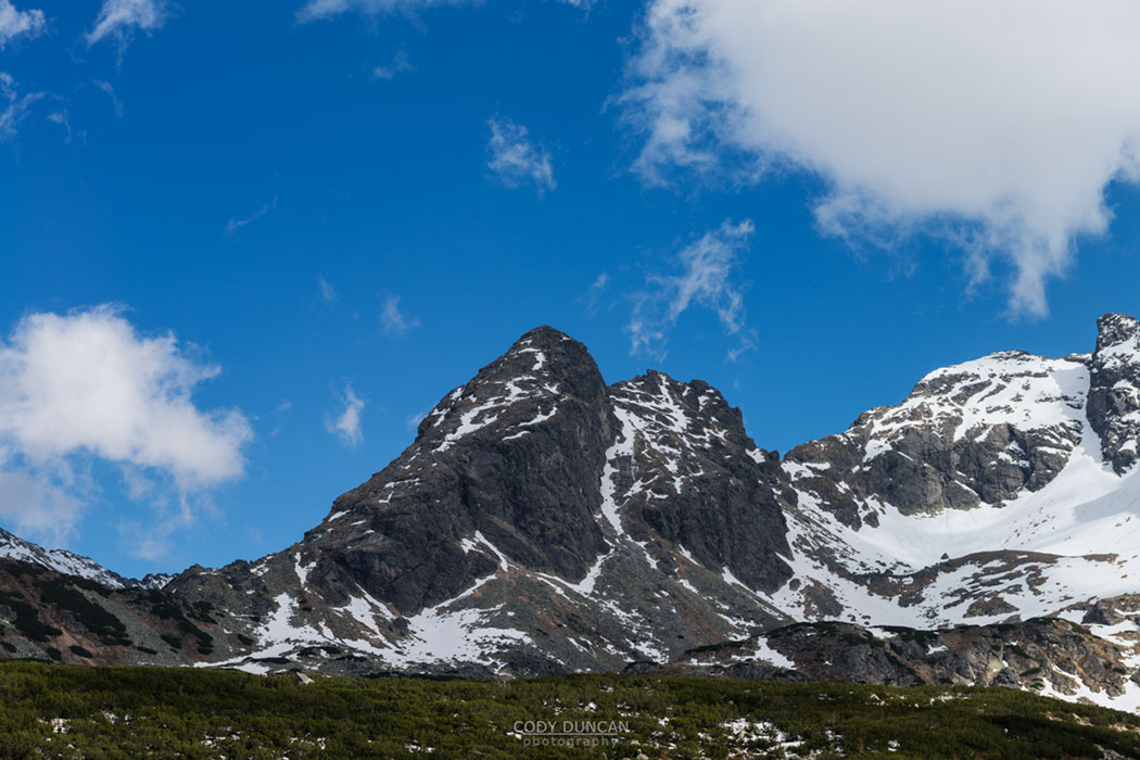 Koscielec (2155m) mountain peak, Tatra mountains, Poland