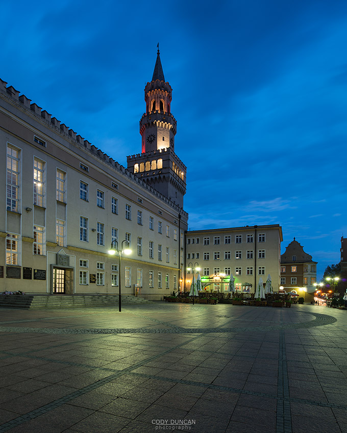 Town hall and Rynek market square, Opole, Silesia, Poland