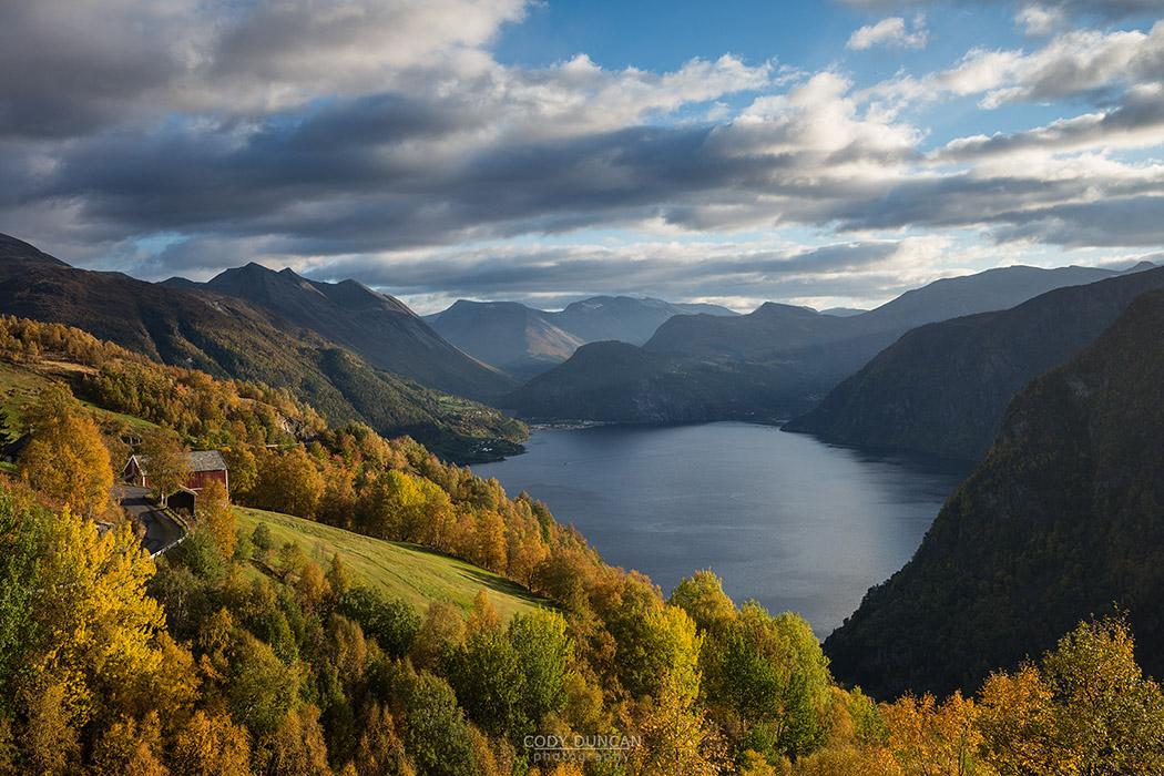 Norddalsfjord autumn, Norway